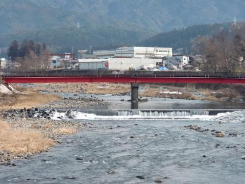 郡上 中川原橋でのアマゴ釣りの写真