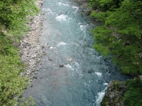 百間橋から見た亀尾島川の写真